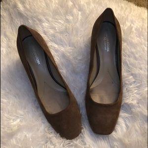 Naturalizer taupe N5 comfort chunky heel pump 8.5M
